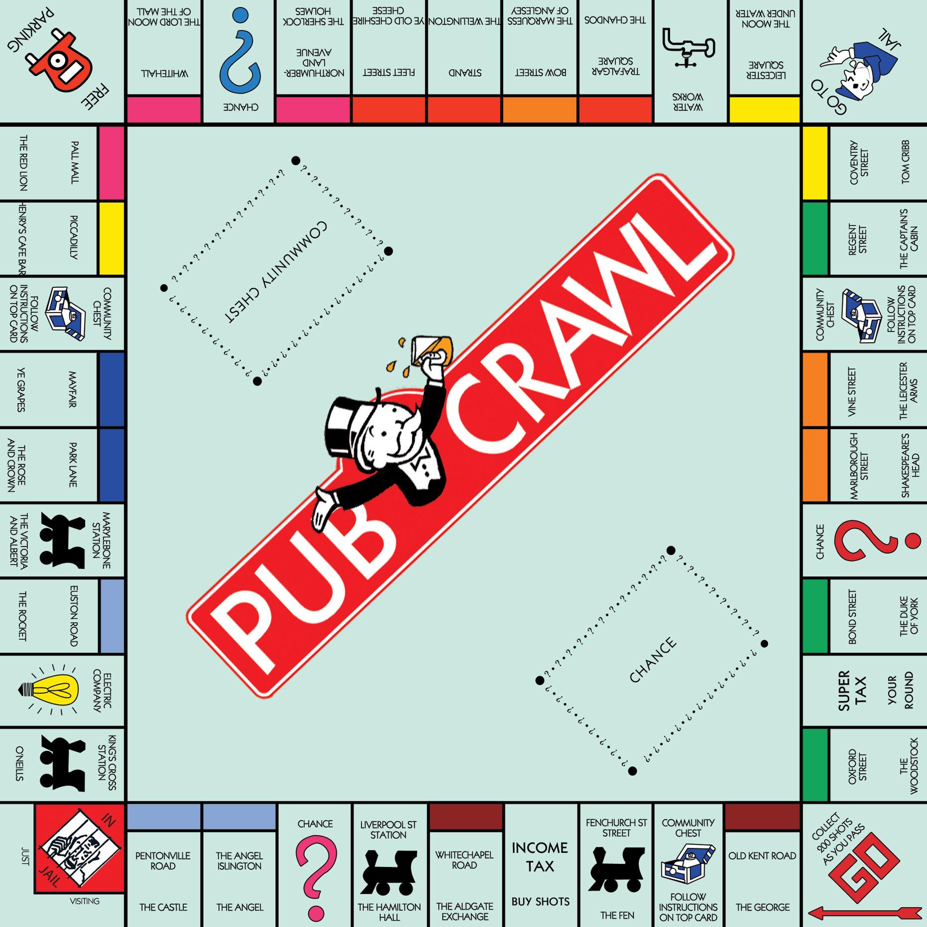 MONOPOLYBOARDPUBCRAW Monopoly Board - 1862x1862 - jpeg